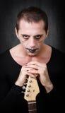 Guitariste gothique Images stock