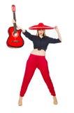 Guitariste mexicain de femme Photos stock