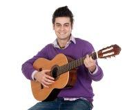 Guitariste occasionnel Images libres de droits