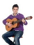 Guitariste occasionnel Photo stock