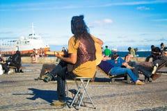 Guitariste Portugal Image libre de droits