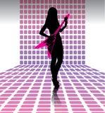 Guitariste sexy de femme Images stock