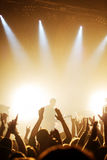 Guitariste sur le concert de rock Photographie stock libre de droits