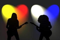 Guitaristes de roche illustration de vecteur