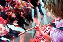 Guitarists hands Stock Images