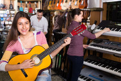 Guitarists making  performance Stock Photo