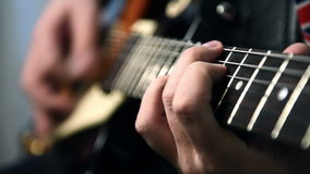 Guitarists Playing On Guitar stock video footage