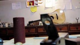 Guitarra almacen de metraje de vídeo