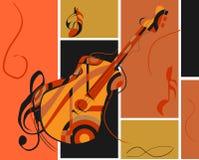 Guitarra abstracta Imagen de archivo libre de regalías