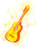 Guitarra abstracta incompleta Imagen de archivo