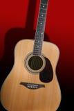 Guitarra acústica Imágenes de archivo libres de regalías