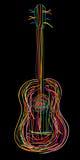 Guitarra acústica ilustração stock