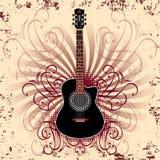 Guitarra acústica Foto de archivo