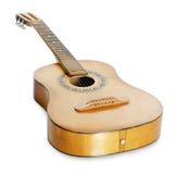 Guitarra acústica aislada Imágenes de archivo libres de regalías