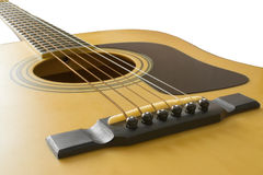 Guitarra acústica | Aislado Fotografía de archivo libre de regalías