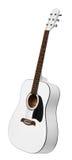 Guitarra acústica blanca Imagen de archivo