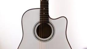 Guitarra acústica branca Imagem de Stock
