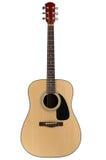 Guitarra acústica com trajeto de grampeamento imagem de stock