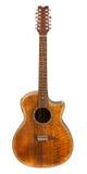 Guitarra acústica de 12 cordas Fotografia de Stock Royalty Free
