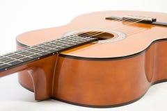 Guitarra acústica de Clouse-up. Imagem de Stock