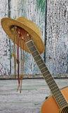 Guitarra acústica del país Imagenes de archivo