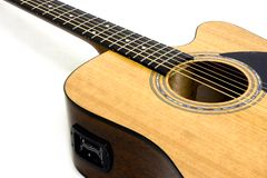Guitarra acústica/eléctrica Imagen de archivo libre de regalías