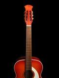 Guitarra acústica en el fondo negro 5 Foto de archivo libre de regalías