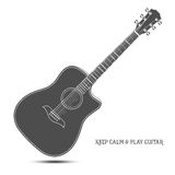 Guitarra acústica isolada ilustração royalty free