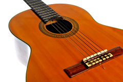 Guitarra acústica isolada no branco Foto de Stock Royalty Free