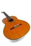 Guitarra acústica isolada no branco Fotografia de Stock Royalty Free