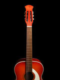Guitarra acústica no fundo preto 5 Foto de Stock Royalty Free
