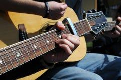 Guitarra acústicas fotografia de stock royalty free