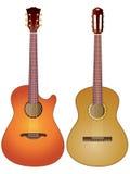 Guitarra acústicas Imagem de Stock