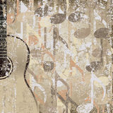 Guitarra accoustic do fundo rachado abstrato Fotos de Stock