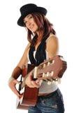 Guitarra adolescente Fotos de archivo libres de regalías