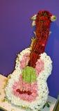 Guitarra adornada Imagen de archivo libre de regalías
