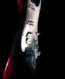 guitarra aislada en un fondo negro Foto de archivo
