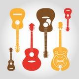 Guitarra ajustadas ilustração do vetor