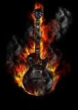 Guitarra ardiente Fotos de archivo