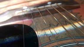 Guitarra asoleada fotografía de archivo