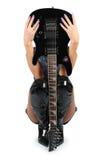 Guitarra atractiva Fotografía de archivo libre de regalías