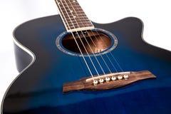 Guitarra azul Imagem de Stock