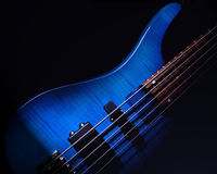 Guitarra azul fotografia de stock