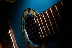 Guitarra azul Foto de archivo