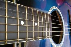 Guitarra azul Imagen de archivo libre de regalías
