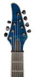 Guitarra azul principal do close up Foto de Stock