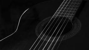 Guitarra B&W Fotos de archivo libres de regalías