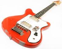 Guitarra baixa do vintage fotografia de stock