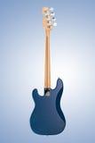 Guitarra-baixo matte azul Imagens de Stock