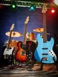 Guitarra-baixo, ritmo, ligação Foto de Stock